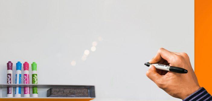 Handig, een whiteboard voor thuis om je gedachten te ordenen